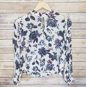 3/$20 ASTR The Label Long Sleeve Floral Top